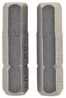 "GENUINE DRAPER 6mm 1/4"" Hex. Hexagonal Insert Bit 25mm Long x 2 