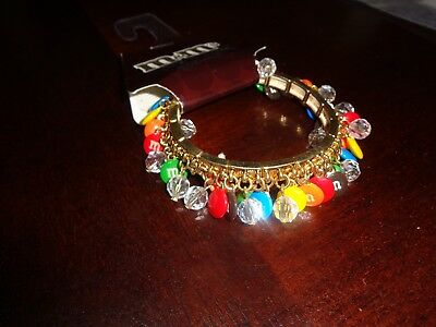 M&m's M&m Colorful Candy Stretch & Shake Adult Bracelet New