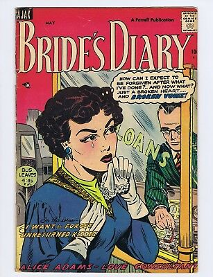 Bride's Diary #4 (VG-) First issue; Golden Age; Ajax/Farrell; 1955 (c#21345)