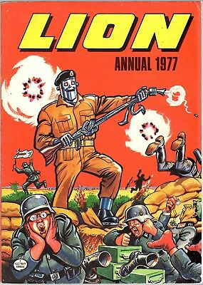 Lion Annual 1977 Paddy Payne Adam Eterno Zip Nolan Commando Robot Archie Mowser