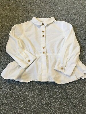 Girls White River Island Blouse Age 18-24months