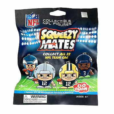 SqueezyMates by Teenymates NFL Gravity Feed Figurines Blind Pack