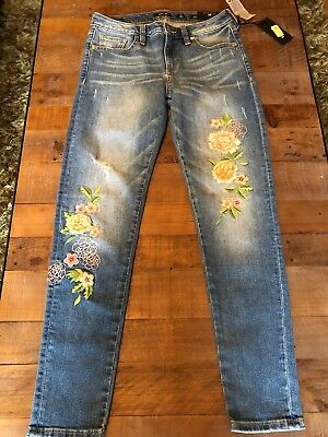 afd217ec5ce Ladies Miss Me Botanical Babe Mid-Rise Ankle Skinny Jeans Nwt M2109Ak  99