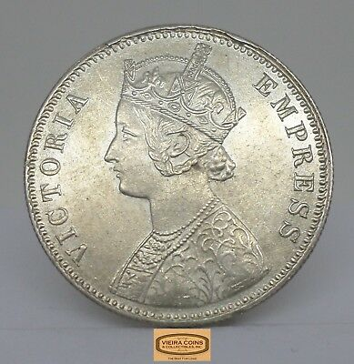 1901 British India Silver Rupee, High Grade  -  #B12533