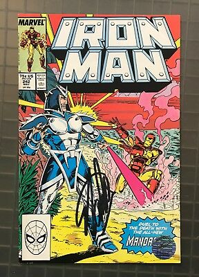 Stan Lee Signed IRON MAN #242 AUTO Marvel Comics 1989 w/ EXCELSIOR Hologram