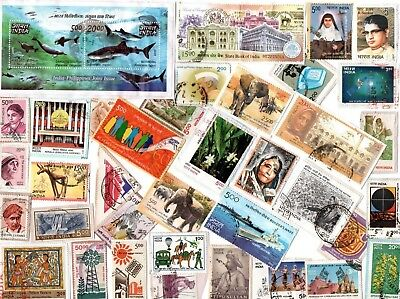 A Lovely Selection Of Kiloware Stamps From India