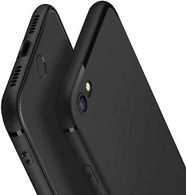 Black iPhone 7 8 Ultra Thin Slim Apple Soft Simple Stylish Case Protective Cover