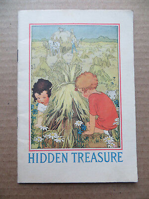 Colorful 1925 Postum Cereal Child's 10 Page Story Book-Hidden Treasure