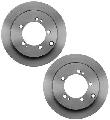For Dodge Mitsubishi Pair Set of 2 Rear Brake Rotors Vented 266mm 5 Lugs Brembo