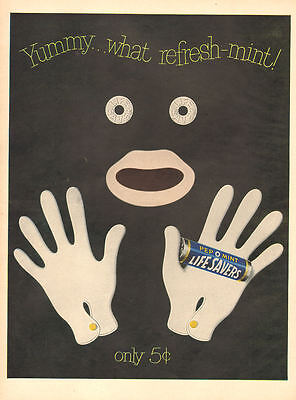 1950 vintage Candy AD LIFE SAVERS Pep O Mint Flavor Unique 'Blackface' Ad 080517