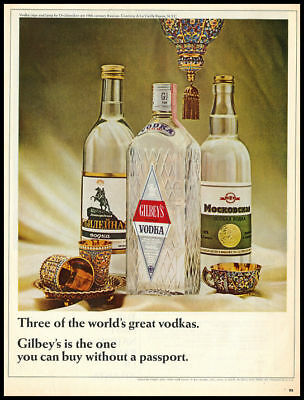 1964 vintage ad for Gilbey's Gin and Vodka