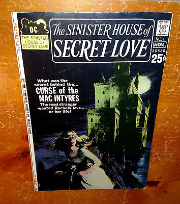 The SiNiSTeR HouSe of SeCReT LoVe #1 (Oct-Nov 1971, DC)  ~Story by WeS CRaVeN~