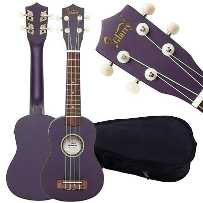 "Purple 21"" Soprano Ukulele Glarry Acoustic Mini Guitar Music Instrument + Bag"