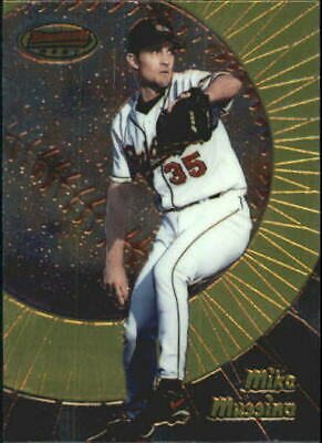 1998 Bowman's Best Baltimore Orioles Baseball Card #63 Mike Mussina