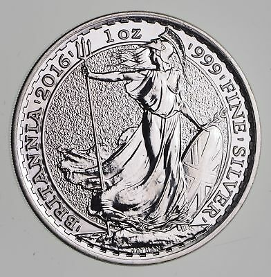 2016 Great Britain 2 Pounds 1 Oz Silver Coin .999 Fine - Rare *134