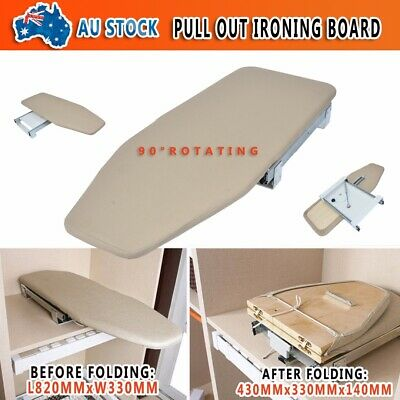 Convenient Pull Out Slide Out Carbinet Drawer Mounted Rotary Ironing Board
