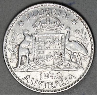 Australia 1942-S Florin Sterling Silver Coin
