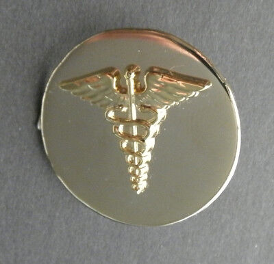 Us Army Medical Corps Gold Colored Lapel Hat Pin Badge 1 Inch