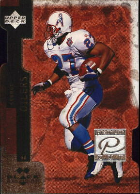 1998 Black Diamond Premium Cut Double Titans Football Card #PC10 Eddie George