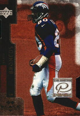 1998 Black Diamond Premium Cut Double Broncos Football Card #PC20 Rod Smith