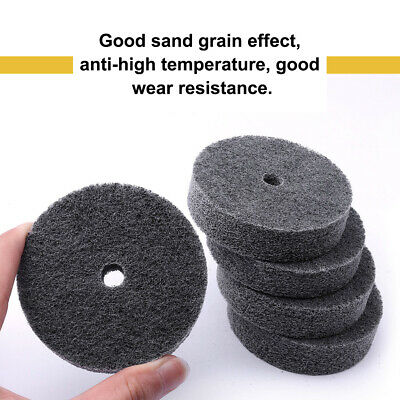 1pcs 75mm Dia Gray Fiber Polishing Wheel Buffing Abrasive Grinding Rotary Tool