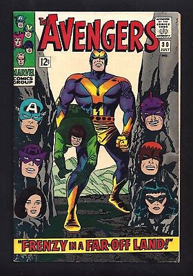 Avengers #30  Fine / Very Fine 7.0!   Very Sharp Cover!  1966