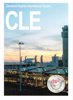 CLE-002 Airport Trading Card Cleveland Hopkins International Ohio