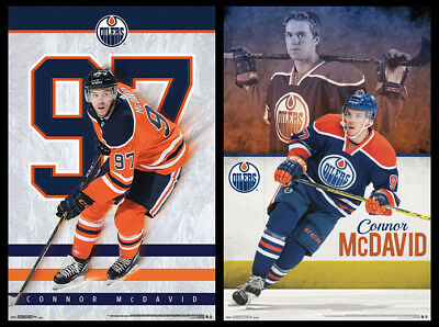 CONNOR MCDAVID Edmonton Oilers Official 2-Poster Combo Set - McDavid POSTERS