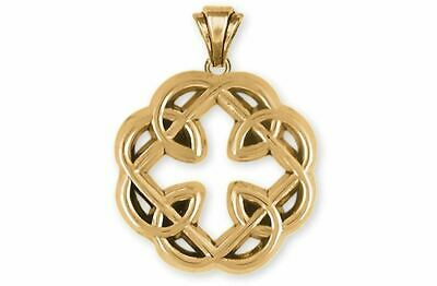 Celtic Father And Daughter Jewelry 14k Gold Handmade Celtic Father And Daughter