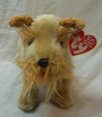 "TY Beanie Babies SCHNITZEL THE TAN TERRIER DOG 7"" Bean Bag Toy 2002"