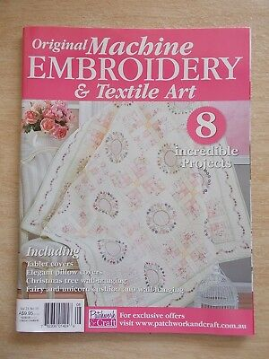 Machine Embroidery & Textile Art Vol 21 #1~Quilt~Xmas Cards~Tablet Cover~Fairy
