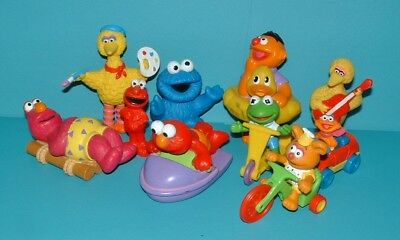 Vintage SESAME STREET Figure Lot ~ MUPPETS BIG BIRD ELMO COOKIE MONSTER