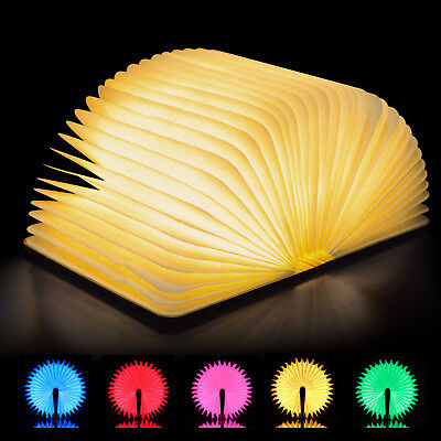 Colorful Book Excelvan USB Rechargeable Magnetic Wooden Folding LED Lights