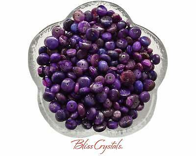 2 SUGILITE Rondelle 6 mm Beads Drilled Hand Matched #SB21