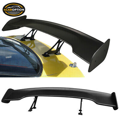 For Nissan Universal 57 Inches GT Type Adjustable Trunk Spoiler Wing Black - ABS