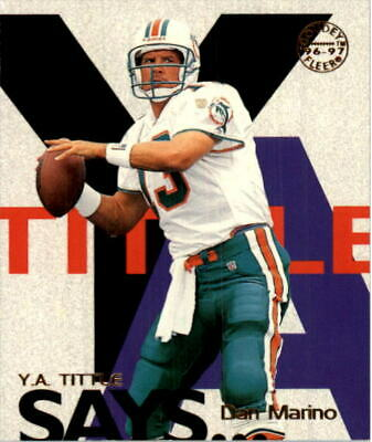 1997 Fleer Goudey Tittle Says Dolphins Football Card #13 Dan Marino - NM-MT