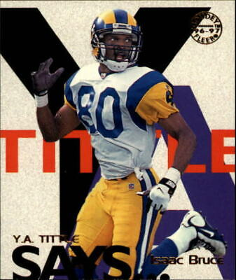 1997 Fleer Goudey Tittle Says St. Louis Rams Football Card #4 Isaac Bruce