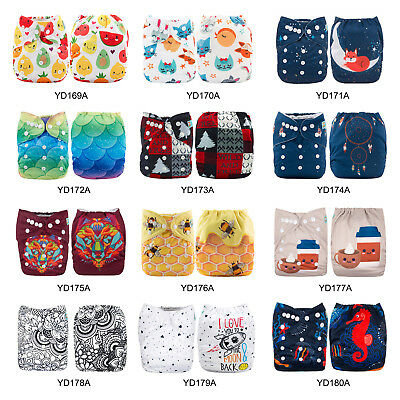 ALVABABY Reusable Cloth Nappies Washable Baby Pocket Cloth Diaper Stoffwindeln