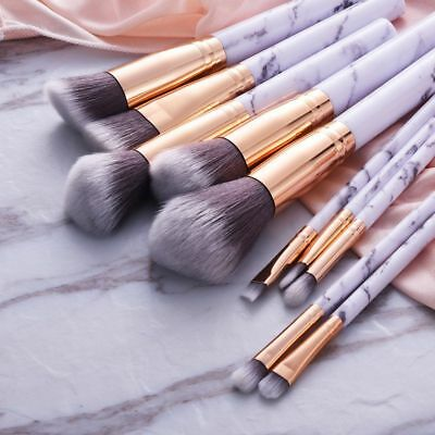 10pcs Kabuki Professional Make up Brushes Set Foundation Blusher Face Powder AU