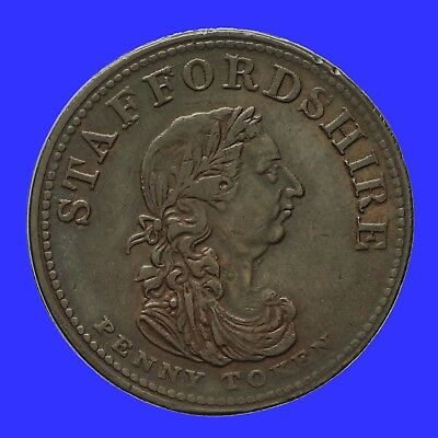 Staffordshire Commerce Penny Token 1814  Withers 1092  RR