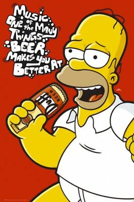 Poster The SIMPSONS - Homer - Music / Beer NEU 57276