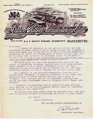 THE BRITISH RUBBER MANUFACTURING CO., DEANSGATE, MANCHESTER : LETTERHEAD (1920s)