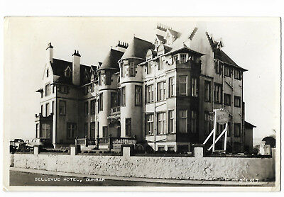 Scotland Dunbar Bellevue Hotel Real Photo Vintage Postcard 16.10