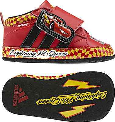 differently 6c3d6 74f7e Adidas Disney Cars 2 Crib  sz. 18 McQueen 95 Red New  Original