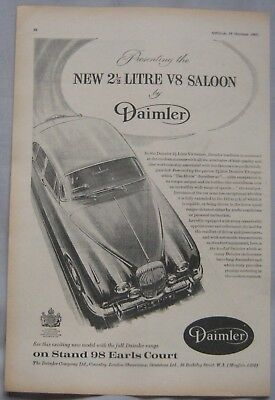 1962 Daimler 2.5-litre V8 Saloon Original advert No.1