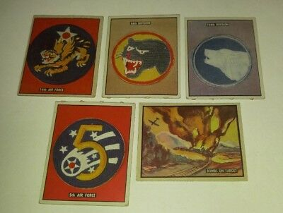 1950 Topps FREEDOM'S WAR Trading Card 18 179 184 185 186 LOT of 5 4.0/5.0