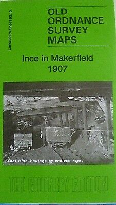 Old Ordnance Survey Detailed Maps Ince in Makerfield Lancs 1907 Godfrey Edition