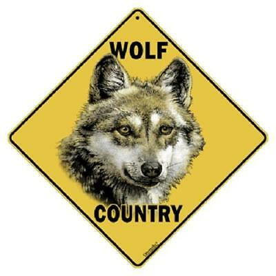 "Wolf Metal Country Sign 16 1/2"" x 16 1/2"" Diamond shape #442"