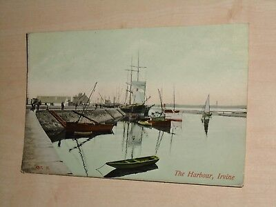 1911 Postcard Of Irvine The Harbour By Caledonia Series