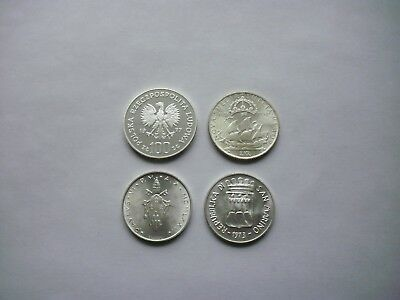 Small World Silver Coin Collection Lot of 4 Coins #29 Italy Poland Sweden
